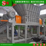 El eje de doble neumático Trituradora de residuos de chatarra reciclaje de llantas