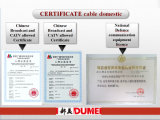 câble coaxial de liaison de double tressage de 75ohm Syv75-3-2 pour la transmission