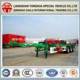 2 de Aanhangwagen/de Oplegger van de Vrachtwagen van de Container van het Skelet van assen 20FT