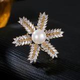 Partei-Dekoration-Shell-Perle 925 silberne SterlingFeshion Dame Brooch Jewelry