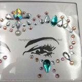 새로운 디자인 주문 자동 접착 모조 다이아몬드는 보석으로 장식한다 당 메이크업 (SR-37)를 위한 마스크 스티커를