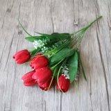 싼 인공 실크 튤립 꽃 꽃다발 온라인으로