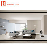 Mobilia bianca contemporanea del sofà della tappezzeria del tessuto di colore per il salone