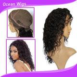 100%년 Virgin Remy 깊은 파 인간적인 브라질 머리 정면 레이스 가발