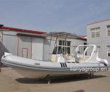 Ce de Hypalon do barco do reforço da fibra de vidro do barco da velocidade de Liya 6.2meter aprovado