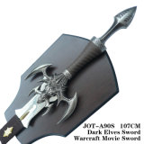 Dark Elfos Espada Warcraft Movie Espada 107cm Anote-A90s/Anote-A90g