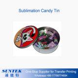 Rectángulo/estaño del caramelo de la dimensión de una variable del corazón de la hojalata de la impresión de la sublimación