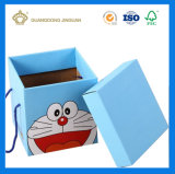 Rectángulo de regalo de empaquetado de papel impreso chocolate del caramelo (con la maneta)