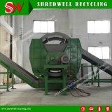 Китай используется давление в шинах двойной вал измельчитель для переработки отходов шин