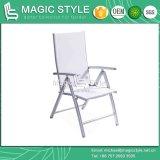 椅子を食事する椅子の熱い販売を食事する屋外の織物の折りたたみ椅子の庭の吊り鎖によって折られる椅子のアルミニウム食事の椅子の粉のコーティング