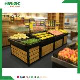 Cremagliere di visualizzazione della verdura e della frutta del supermercato di legno solido