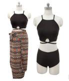 Crear la impresión para requisitos particulares cubren para arriba viste a señora Swimsuit Set de Sandbeach