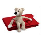 Vlies-Zudecke der Kinder mit Teddybär-Spielzeug