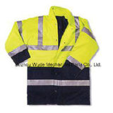 100%년 폴리에스테 옥스포드 PVC/PU 외투 사려깊은 옷 Parka 작업복 재킷