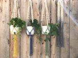 Sostenedor de la planta, plantador colgante Wedding de la decoración, percha hecha a mano de la planta del Macrame