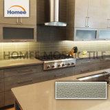 La fábrica de ladrillo marrón brillante salón baño mosaico de vidrio de la pared