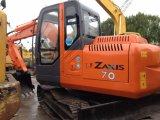 Máquina escavadora japonesa usada da esteira rolante de Hitachi Zx70 para a venda