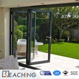 Lo spazio di vetro piegante del portello della villa moderna salva il profilo di alluminio Windows