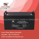 batterie profonde de gel de cycle de 12V 120ah pour le système d'alimentation de sauvegarde solaire