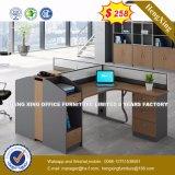 4 sièges forme de L'Office de station de travail du personnel de cluster de partition (HX-8N2637)
