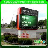 Pantalla a todo color del vídeo de la visualización de LED de la publicidad al aire libre