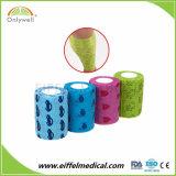 Knall kopierte elastisches Muster-anhaftenden Bindetierarzt-Sport-Verpackungs-Verband