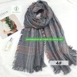 테를 두룬 스카프 형식 여성 겨울 숄을 두껍게 하는 가장 새로운 유럽 격자 무늬