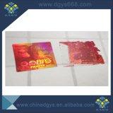 Facili su ordinazione distrugg un contrassegno dell'autoadesivo dell'ologramma del laser di colore rosa di uso di volta