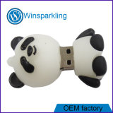 Memória Flash popular do USB da movimentação do flash do USB do PVC da panda