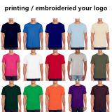 Manufactorer t-셔츠 95%Cotton 5% 스판덱스 도매를 주문을 받아서 만드십시오