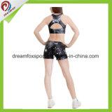 Kundenspezifische Strumpfhose-Cheerleader-Uniform-Sublimation-Druckencheerleading-Praxis-reizvolle Abnützung
