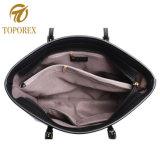 Quatro cores Senhoras PU de bolsas de couro mulheres populares Sacola grande de ombro