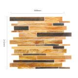 De lineaire Tegel van het Mozaïek van het Gebrandschilderd glas voor de Decoratie van de Muur van de Keuken