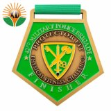 Grand tour de vélo de Dublin émail doux or Médaille de métal