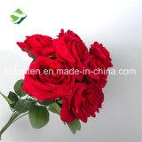 Mazzo capo del fiore artificiale della Rosa di vendita 9 caldi