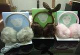 Bonitinha crianças de pelúcia para fone de ouvido fashion inverno quente adequados para crianças fone de ouvido inclinada