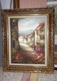 Pitture a olio mediterranee Handmade di scene del giardino per la decorazione domestica
