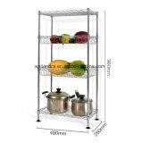 Регулируемый 4 яруса хром металлический провод Mini-Basket стеллажей для хранения для монтажа в стойку с 4 уровня стопы