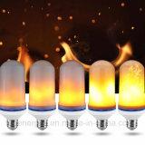 Efeito ardente de cintilação do incêndio da emulation dos bulbos E27 E26 da flama do diodo emissor de luz morno