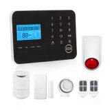 Le Toucher-Panneau GSM/PSTN de DIY autoguident le système d'alarme avec la sirène sans fil de signal d'échantillonnage