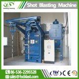 El gancho Granallado Máquina utilizada en la superficie helada de acero inoxidable el apoyabrazos, gancho Granallado máquina con dos turbinas