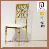 Populaires métal moderne en acier inoxydable chaise de salle à manger