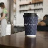 عزل شراب حارّة فنجان مع تموّج جدار تصميم