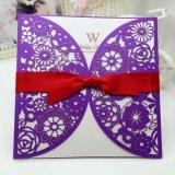 Impresión de encargo de lujo de lujo de las tarjetas de felicitación de las invitaciones de boda