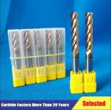 Vierkant Type Vier Fluiten zuivert de Molens van het Eind van het Carbide van de Ruwe bewerking van de Hoogte met 35 Graad