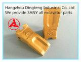 Dente 12076675K da cubeta da máquina escavadora de Sany para a máquina escavadora hidráulica de Sany Sy55