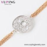 71788 Xuping Form-Schmucksache-Gold überzogenes rotes Seil-Blatt-Armband