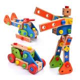 Montaje de los niños de madera Madera robótico pretender juego juguetes educativos