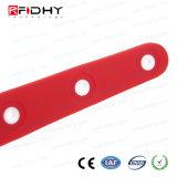 Wristband impermeabile del PVC di colore rosso RFID nella figura della vigilanza