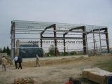 Edificio fabricado de la estructura de acero para el taller y la vertiente industriales